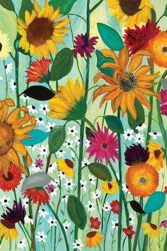 "Trademark Fine Art 32 in. ""Sunflower House"" by Carrie Schmitt Printed Canvas Wall Art - The Home Depot Canvas Art Prints, Painting Prints, House Painting, Framed Canvas, Framed Prints, Sunflower House, Sunflower Art, Floral Room, Canvas Home"