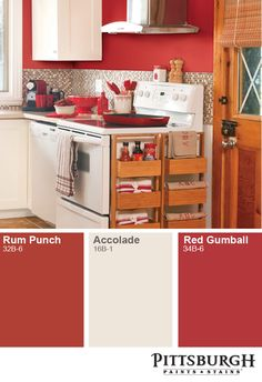 Go bold with a vibrant red paint color. http://www.menards.com/main/search.html?search=%22Rum+Punch%22+or+%22accolade%22+or+%22Red+Gumball%22&sf_brandName=Pittsburgh+Paint+%26+Stain&sf_categoryHierarchy=Paint_7918&utm_source=pinterest&utm_medium=social&utm_campaign=interestinginteriors&utm_content=paint&cm_mmc=pinterest-_-social-_-interestinginteriors-_-paint