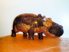 Baby Hippo  #swarovski #crystals #animals #wood #photography #brand #luxury #lifestyle #homedecor #ornament #livingroom #house #love #daily #handmade #africa