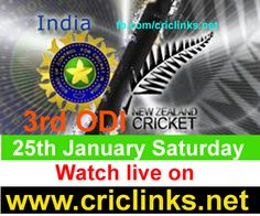 Saturday 25th January 3rd ODI between India vs New zealand will be played at Auckland....For India just need to win 3rd Odi to alive the seris & Regain the 1st place in ODI ranking...other hand NZ have a good chance to win a Seris against a strong Team...Match will be start 6.00 AM PST.6.30IST,Watch live action only on http://www.criclinks.net/ #nzvsind