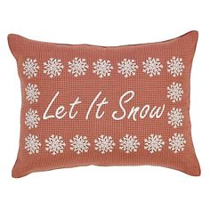 """Pre-order: Let It Snow - 14""""x18"""" - Holiday Pillow"""