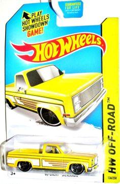 1983 Chevy Silverado Hot Wheels 2014 Off-Road-HW Hot Trucks #166/25 Yellow/White #HotWheels #Chevrolet