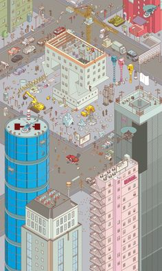 Chaos City by Miquel Tura Rigamonti, via Behance   numalab <3