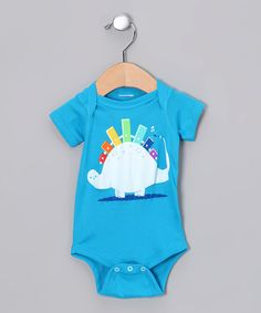 Take a look at this Teal Xylosaurus Bodysuit - Infant by Threadless on @zulily today!