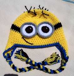 crochet minion hat,crochet beanie hat,beanie babies,halloween costume,toddler girl hats,girls clothing,womens accessories,gift ideas,items