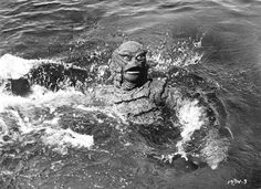 Revenge of the Creature - the sequel to Creature from the black lagoon released in 1955. Ricou Browning in the suit.