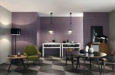 Diamond patterned tile floor #tiles #signorinotilegallery