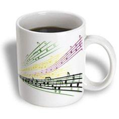Mugs For The Music Lover Colorful Musical Notes Musician Music Lover Design Ceramic Mug