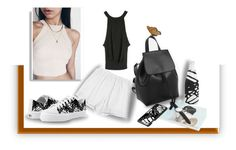 """""""""""Black,white&neutrals minimal look"""" with GENUINE-PEOPLE"""" by fallforit ❤ liked on Polyvore featuring white, black, minimal, sporty and Genuine_People"""