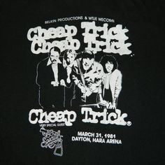 CHEAP TRICK AUTOGRAPHED PHOTO CLASSIC Rock Band Licensed Concert T-Shirt