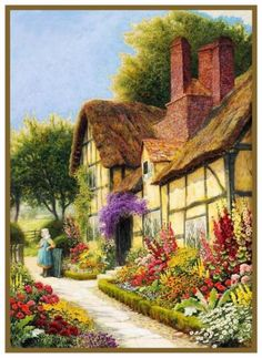 An English Cottage Garden A.c.strachan Counted Cross Stitch Pattern