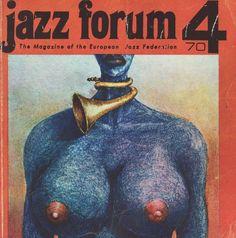 jazz, polish jazz magazine, jazz forum, vinatge, 1970, poster, plakat, cover, okladka magazynu
