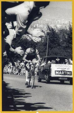 Gimondi, 1969. Subida al Castillo de Montjuïc, Barcelona. Foto de Jaume Balanyà.