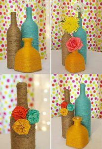 Ideas Creativas para Decorar Botellas y Frascos de Vidrio