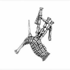 Pewter Pin Badge Regional Bagpipes by Danetre Gifts. $6.99. Measures approx .75 inches high. Quality Lead Free English Pewter. Comes with two clutch and pin style fittings on the back.. Supplied in a lovely black velvet gift bag, cellophane bagged to protect from weather on its journey.. English Pewter, made in UK. NOT SUITABLE FOR YOUNG CHILDREN DUE TO SMALL PARTS. English made pewter jewellery and decorative items. A quality British made product.
