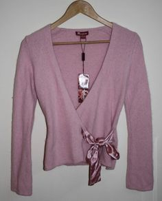 Monsoon Womans Designer Top Cardigan Blezer Pink Size 8 UK Angora / Nylon NEW