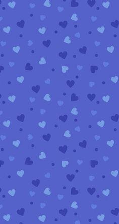 Blue Hearts Wallpaper
