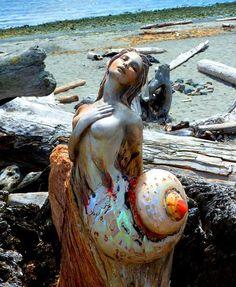 Driftwood Spirit Sculpture by Debra Bernier