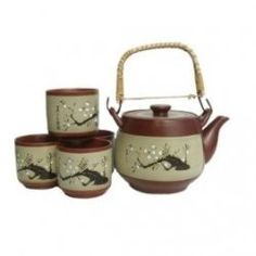 Japanese Tea Pots and Cups