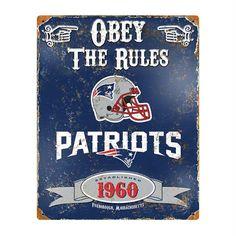 New England #Patriots #NFL #Vintage Metal #Sign