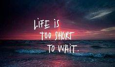 """""""O que eu não quero: Nem sempre sei o que quero, mas sei bem o que não quero. Não quero morrer lentamente, nem viver depressa demais. Quero desfrutar do momento, da vida, do que foi e do que há-de ser."""" http://angelasilvestre.com/e/blog-a-vida-e-demasiado-curta"""