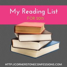 My Reading List for 2015