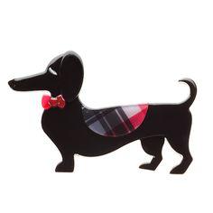 Spiffy the Sausage Dog brooch Quirky Gifts, Animal Kingdom, Dachshund, Dinosaur Stuffed Animal, My Love, Brooches, Pretty, Dogs, Sausage
