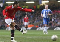 Ronaldo struck against Wigan in the 2006 League Cup final.