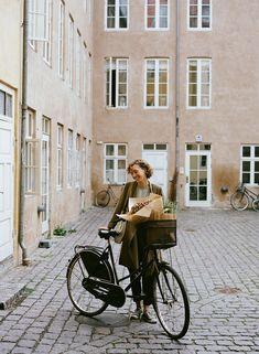 Nathalie Schwer, Copenhagen by Parker Fitzgerald | Kinfolk. Lovely bicycle with basket.