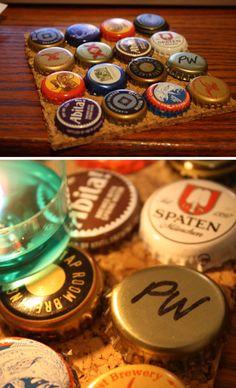Bottle cap candle coasters/drink coasters! Easy DIY!