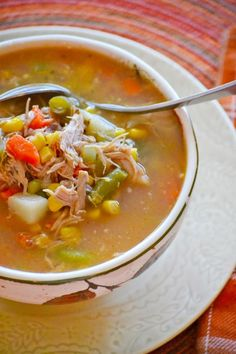 Turkey Vegetable Soup will be your satisfying bowl of comfort the days after Thanksgiving. Great for using leftover turkey!