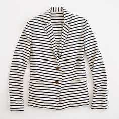 Factory stripe knit blazer-Might need this for fall