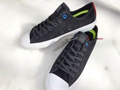Black//White Suede Tennis Shoes *NEW* Converse All Star CTAS Pro Ox Men Size 11