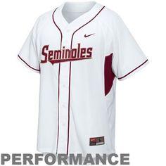 0720760e3 Nike Florida State Seminoles (FSU) White Performance Replica Baseball Jersey