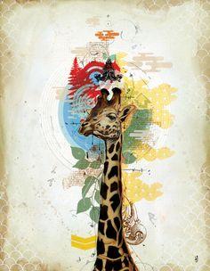Blaine Fontana - Mixed Media Artist/Graphic Designer/All-Around Bad-Ass MothaFucka Collage Design, Graphic Design Art, 8th Grade Art, Giraffe Print, Mixed Media Artists, Art Boards, Photo Art, Art Projects, Artsy