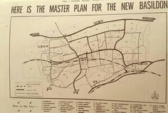 The Master Plan for Basildon as printed in the Yimes and Recorder 29th November 1950.