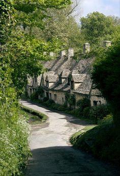 pagewoman:  Arlington Row, Bibury, Gloucestershire, England  byForgotten Heritage Photography