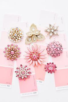 Vintage pink & paste
