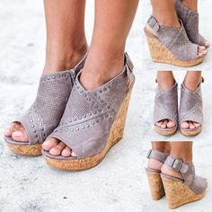 NO WAY! These fab wedges are available in a new color, Gray! Shop at savedbythedress.com