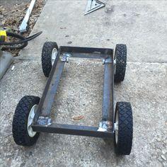 welding table plans or ideas Welding Cart, Diy Welding, Welding Table, Metal Projects, Welding Projects, Welding Ideas, Build A Go Kart, Metal Cart, Bike Trailer