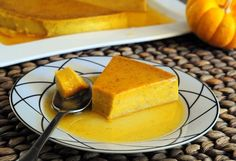 Pumpkin Flan from BakingBites.com. It looks so very light and delicious, though I'm sure plenty of eggs, sugar and whole milk add up to a few calories!