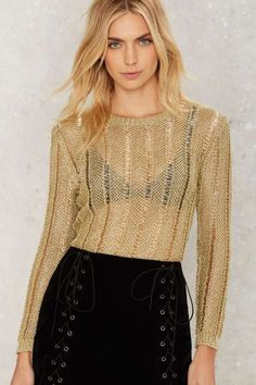 Gigi Metallic Sweater