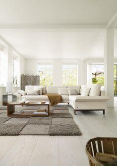 weies sofa ideen frs helle wohnzimmer wohnzimmereinrichtung livingroom home rolf benz