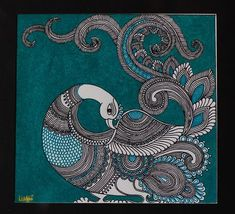 super ideas for diy decorao canvas fabrics Gond Painting, Kerala Mural Painting, Peacock Painting, Peacock Art, Indian Art Paintings, Animal Paintings, Fabric Painting, Indian Artwork, Easy Paintings