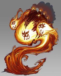 Eredan Itcg - Fire Elemental, Emmanuel Bouley on ArtStation at https://www.artstation.com/artwork/lNQWJ