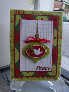 Peace - Scrapbook.com...love working on xmas cards...this is another card made by me-Lynn