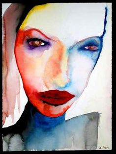 A portrait of my late friend, Jennifer Syme, by Marilyn Manson.