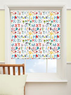 Attractive Alphabeats Crazy Cool Blackout Roller Blind   Brighten Up A Bedroom Or  Nursery With This Colourful