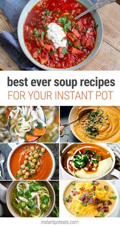 From classic blends like broccoli cheddar and potatoes with leeks to takeaway staples like ramen and pho, we have 20 Instant Pot soup recipes that are so good, you'll want to make them all.