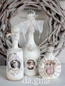 Shabby Chic Vanity Wall Colors how to make shabby chic pillows.How To Make Shabby Chic Pillows. Wine Bottle Art, Glass Bottle Crafts, Painted Wine Bottles, Diy Bottle, Vintage Bottles, Bottles And Jars, Decorated Bottles, Bottle Lamps, Shabby Chic Pillows